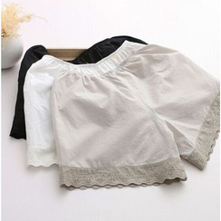 Moricode - Lace Trim Under Shorts