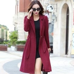 AiSun - Notch Lapel Long Coat