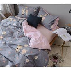 Petrie - Bedding Set: Cartoon Duvet Cover + Bed Sheet + Pillowcase
