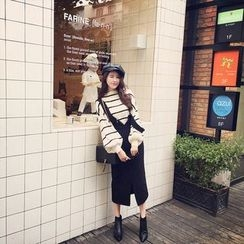 Panda Love - V-Neck Jumper Skirt