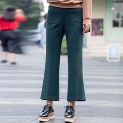 Dimosqisi - Silm-Fit Cropped Boot-Cut Pants
