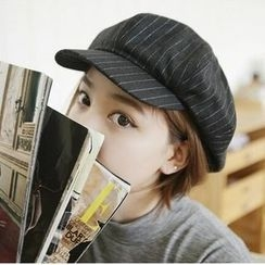 SOCOOL - Striped Newsboy Hat