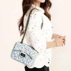 Axixi - Floral Quilted Shoulder Bag