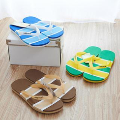Trava - Striped Flip-Flops