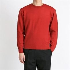 THE COVER - Crew-Neck Wool Blend Knit Top