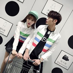Evolu Fashion - Striped Couple Matching Shirt