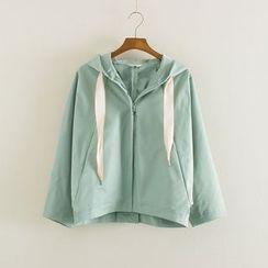 Mushi - Plain Hooded Jacket