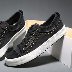 Renben - Studded Washed Sneakers