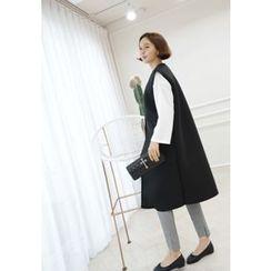 Lemite - Sleeveless Neoprene Long Jacket