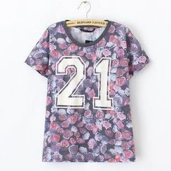 JVL - Short-Sleeve Floral T-Shirt