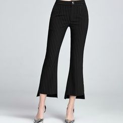 Sentubila - Pinstriped Boot Cut Pants