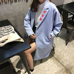 Color7 - Embroidered Buttoned Coat