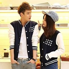 Lovebirds - Couple Matching Baseball Jacket
