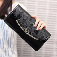 SUOAI - Faux-Leather Flap Clutch