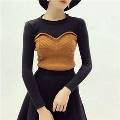Octavia - Mock Two Piece Sweater