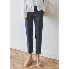 GOROKE - Cuff-Hem Straight-Cut Pants