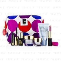 Estee Lauder - Travel Set: Makeup Remover 30ml + Advanced Time Zone Creme 15ml + Eye Creme 5ml + ANR II 7ml + Mascara 2.8ml + Lipstick #61 3.8g + Bag