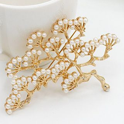 Cheermo - Faux Pearl Tree Brooch