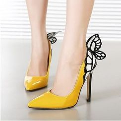 Anran - Butterfly Pointy Heels