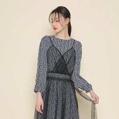 Envy Look - Set: Lace-Sheer Dress + Pattern Long Dress