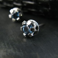 Sterlingworth - London Blue Topaz Sterling Silver Single Stud Earring