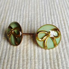 MyLittleThing - Resin Ribbon Earrings (Mint)