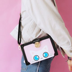 Bags 'n Sacks - Cat Print Crossbody Bag