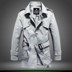 Alvicio - Epaulet-Detail Trench Coat