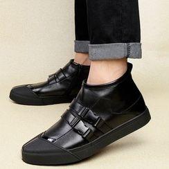 MARTUCCI - 抓毛內襯飾扣休閑鞋