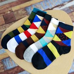 Aeoo - 五件裝: 圖案襪子
