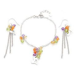 Bellini - Angel's Heart Bracelet and Earrings Set