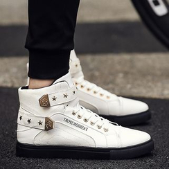 Araeo - Star Studded High Top Sneakers
