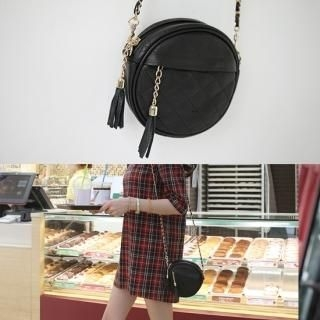 penny penNY - Genuine Leather Round Crossbody Bag