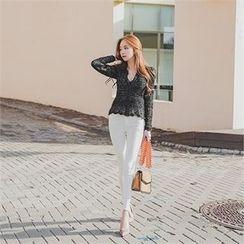 ERANZI - Brushed-Fleece Lined Skinny Pants
