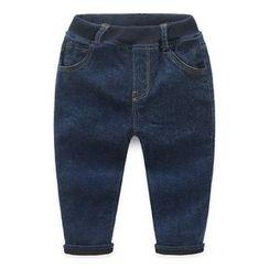 貝殼童裝 - 小童內抓毛牛仔褲