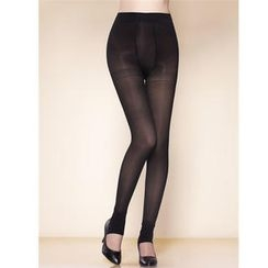 Moonbasa - Sheer Fleece-Lined Stirrup Leggings