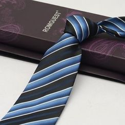 Romguest - Striped Silk Neck Tie (9cm)
