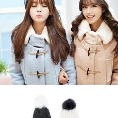 Bongjashop - Pom-Pom Angora-Wool Blend Hat