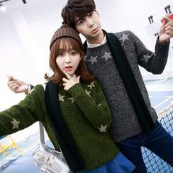 Je T'aime - Couple Matching Star Knit Top