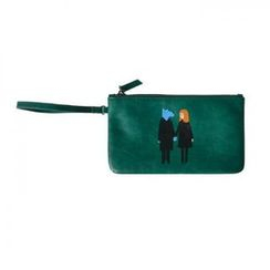 LIFE STORY - 'kiitos' Series Illustrated Wristlet Clutch