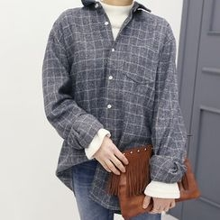 DANI LOVE - Pocket-Front Checked Cotton Shirt