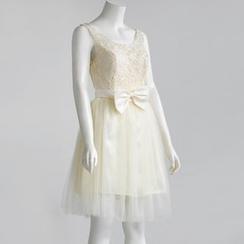 Royal Style - Crochet Sleeveless A-Line Mini Prom Dress