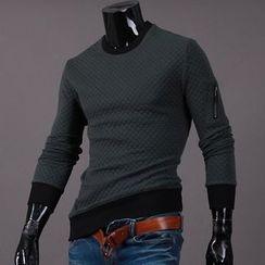 Seoul Homme - Zip-Trim Sleeve T-Shirt
