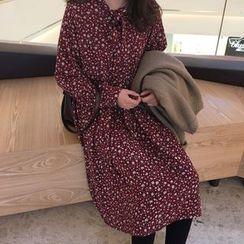 Dasim - Floral Print Midi Chiffon Dress