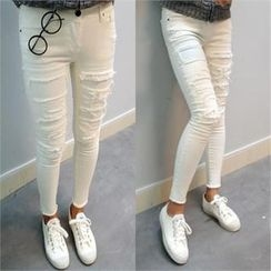 ELLASOO - Distressed Skinny Pants
