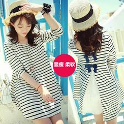 GESTA - Maternity Stripe T-shirt Dress