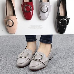 Reneve - Buckled Patent Loafers