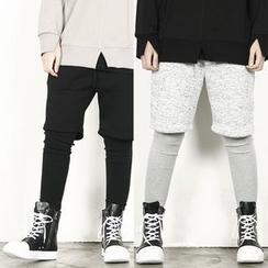 Rememberclick - Inset Sweat Shorts Leggings Pants