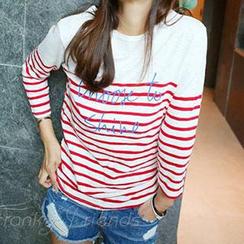 Lina - Long Sleeved Striped T-shirt