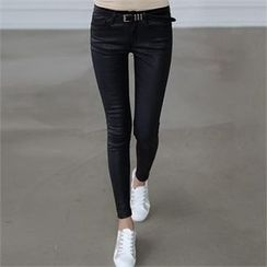 CHICFOX - Coated Skinny Pants